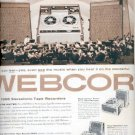 Sept. 30, 1957  Webcor 1958 Sterofonic Tape recorders  ad (# 4779)