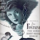 June 2, 1947  Ivy movie with Joan Fontaine   ad (#6242)