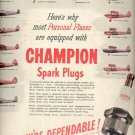 1946 Champion Spark Plugs ad (# 5071)