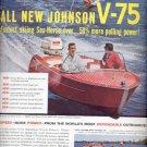 1960  Johnson V-75 outboard boat ad (# 5066)