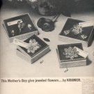 1964  jeweled flowers by Kramer  ad (# 5033)