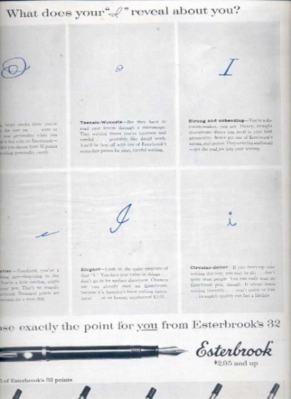 1957   Esterbrook's 32 points pen   ad (# 4985)