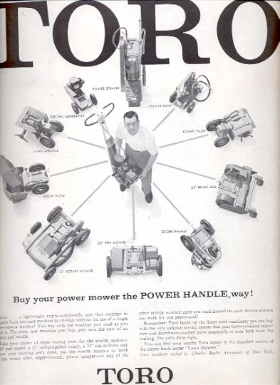 1957 Toro power handle  ad (# 4965)