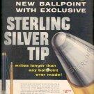 1957   Sheaffer's Sterling Silver Tip Ballpoint   ad (# 4932)