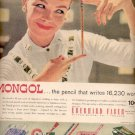 1957  Mongol pencil- Eberhard Faber  ad (# 4733)