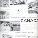 1957 Canadian Government Travel Bureau ad (# 4720)