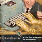 1957    Underwood Electric Typewriter  ad (# 4697)
