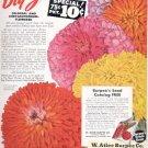 1946 Burpee's Big Zinnias  ad (#4182)