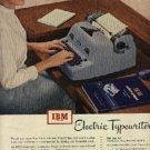 1952  IBM Electric Typewriters ad (# 1117)