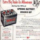 1953  Willard Batteries ad (# 1490)