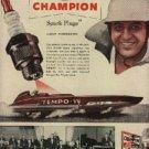 1952 Champion Spark Plugs ad (# 1073)