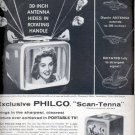 1957  Philco Portable TV ad (# 4948)