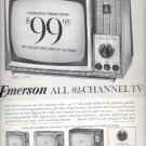 1964  Emerson All 82- Channel TV ad (# 4500)