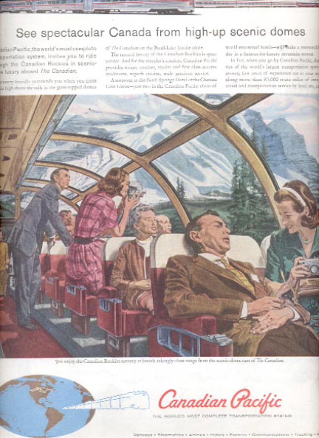 1960 Canadian Pacific transportation system  ad (#5466)