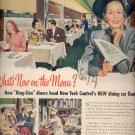 1948 New York Central Dining Car ad (#30)