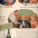 Dec. 1945   Canada Dry Water and Ginger Ale ad (# 5127)