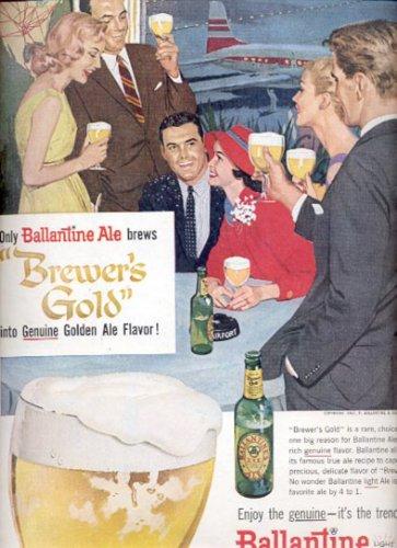 1957  Ballantine Light Ale- Brewer's Gold   ad (# 4792)