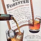1962  Old Forester Bourbon Whisky ad (  # 2074)
