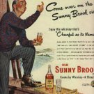 1948  Old Sunny Brook Brand Kentucky Whiskey ad (# 596)