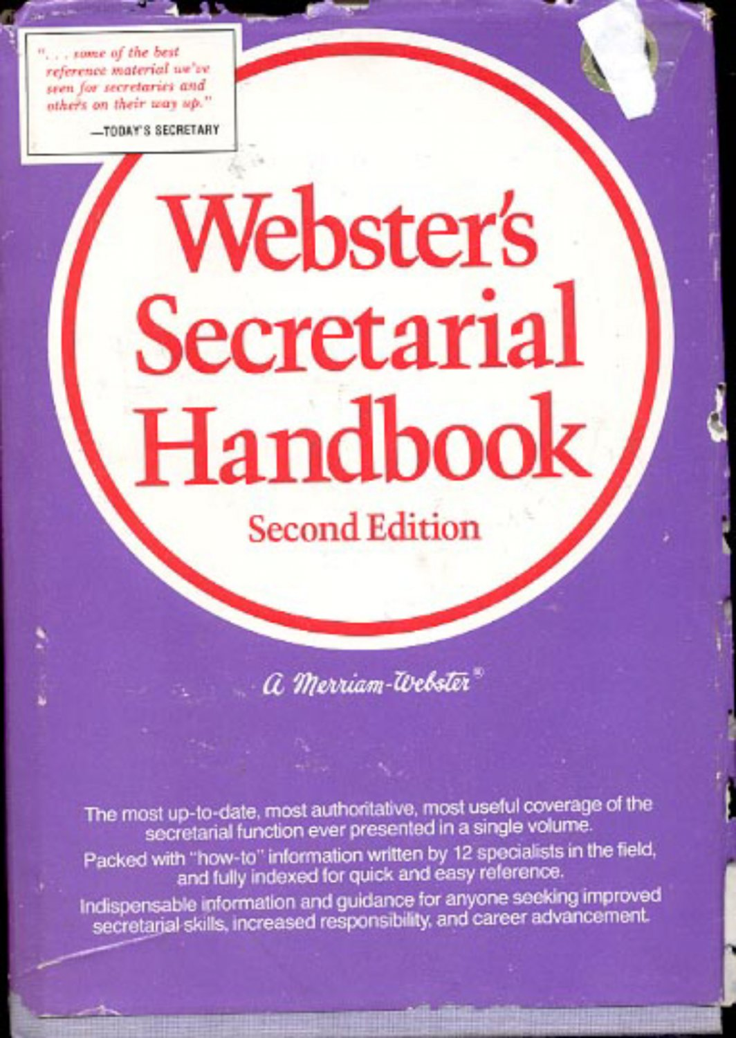 Webster's Secretarial Handbook- second edition- hb