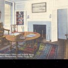 Washington's  Office & Orderly Room-  Postcard- (#14)