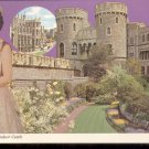 The Queen and Windsor Castle- Postcard- (# 101)