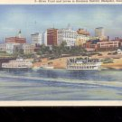 River Front and Levee  Memphis, Tenn.-  Postcard- (# 55)