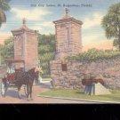 Old City Gates, St. Augustine,  Fl- Postcard- (# 49)