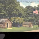 Huts at site of Wayne's Brigade- PA-  Postcard- (# 16)
