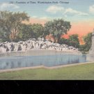Fountain of Time.  Washington Park-Chicago -  Postcard- (# 68)