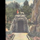 Entrance to Fairyland Caverns  in Rock City gardens-  Postcard- (# 117)