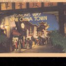 Enchanting Chinese Settlement- CA-  Postcard- (# 70)