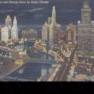 Chicago Wacker drive and Chicago River-Postcard- (# 56)