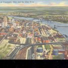 Aerial View of Cincinnati and River  -Postcard- (# 115)