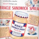 July 21, 1941 Miracle Sandwich Spread  by Kraft     ad (# 2913)