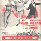 April 19, 1955  Three for the Show movie   ad (# 2895 )