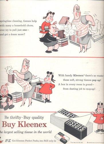 April 19, 1955   Kleenex tissues by Little Lulu   ad (# 2896 )