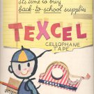 Sept. 12, 1955 Texcel Cellophane Tape  ad (# 3515 )