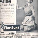 Sept. 12, 1955   Sloane-Delaware Flor-Ever vinyl floorings    ad (# 3524 )