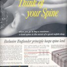 Sept. 12, 1955  Englander Red-Line Mattress      ad (# 3538 )