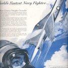 Sept. 12, 1955  Vought Crusader Aircraft    ad (# 3542 )
