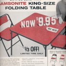 April 6, 1959     Samsonite Folding table    ad (# 3756)