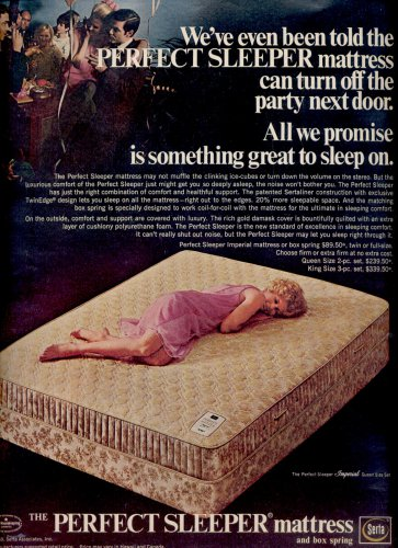 May 1969     Serta Perfect Sleeper mattress and box spring     ad (# 3801)