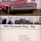 Oct. 16, 1964    - 1965 Plymouth Fury      ad (# 3335)
