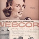 Sept. 17, 1957   Webcor fonografs and tape recorders        ad (# 3371)