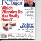 Readers Digest-     November 2001.