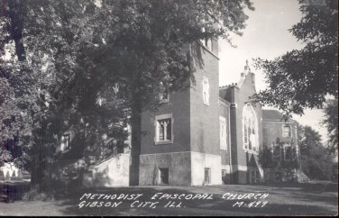 Methodist Episcopal Church Gibson City, Ill. .  postcard   (#238))