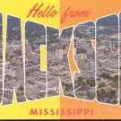 Hello from Jackson, Mississippi   postcard   (#244)