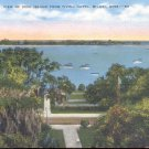 View of Deer Island from Tivoli Hotel, Biloxi, Miss.   postcard   (#246)