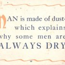 Man is made of dust-     Postcard  (#344)